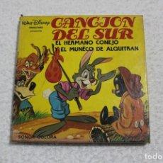 Cine: PELICULA SUPER 8 MM SONORA: CANCION DEL SUR, EL HERMANO CONEJO - WALT DISNEY PRODUCTIONS. Lote 166365645