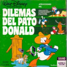 Cine: DILEMAS DEL PATO DONALD. SUPER 8. 120 MTS. COLOR. SONORA . Lote 174018987