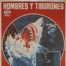 Cine: HOMBRES Y TIBURONES - LARGOMETRAJE DOCUMENTAL. Lote 175507944