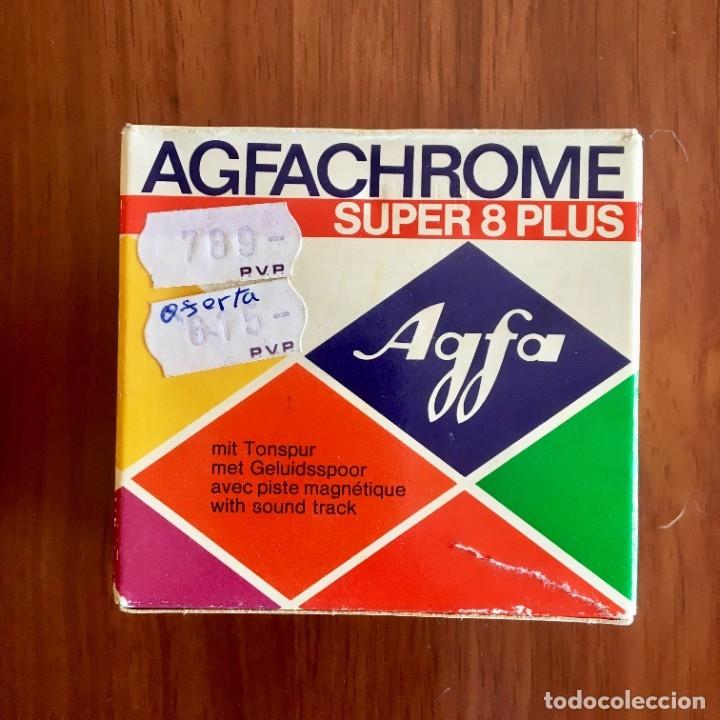 CARRETE ORIGINAL SUPER 8 PLUS AGFACHROME, AGFA GEVAERT (Cine - Películas - Super 8 mm)