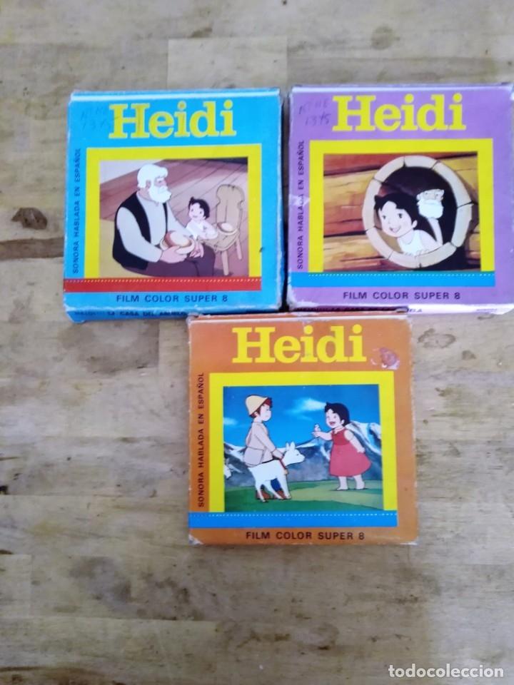 HEIDI FILM COLOR SUPER 8 LOTE DE TRES (Cine - Películas - Super 8 mm)
