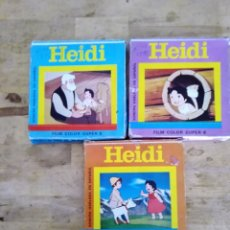 Cine: HEIDI FILM COLOR SUPER 8 LOTE DE TRES. Lote 177944715