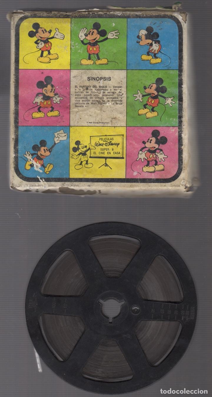 PELICULA SINOPSIS EL PARTIDO DEL SIGLO WALT DISNEY (Cine - Películas - Super 8 mm)