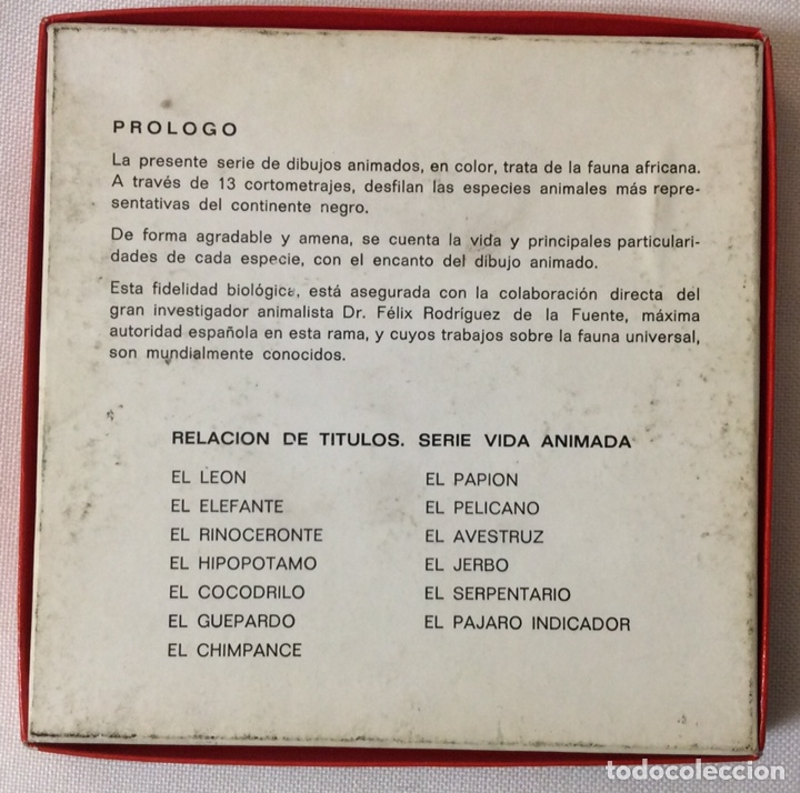 Cine: PELÍCULA CORTOMETRAJE SÚPER 8MM, EL GUEPARDO, FÉLIX RODRÍGUEZ DE LA FUENTE - Foto 3 - 179237668