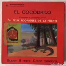 Cine: PELÍCULA CORTOMETRAJE SÚPER 8MM, EL COCODRILO, FÉLIX RODRÍGUEZ DE LA FUENTE. Lote 179237936