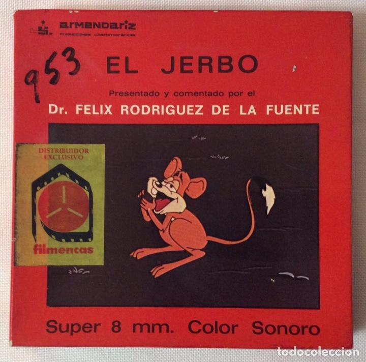 PELÍCULA CORTOMETRAJE SÚPER 8MM, EL JERBO, FÉLIX RODRÍGUEZ DE LA FUENTE (Cine - Películas - Super 8 mm)