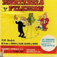Cine: MORTADELO Y FILEMON - VISIONES MARBISCOLOR - PELICULA EN SUPER 8. Lote 180100117