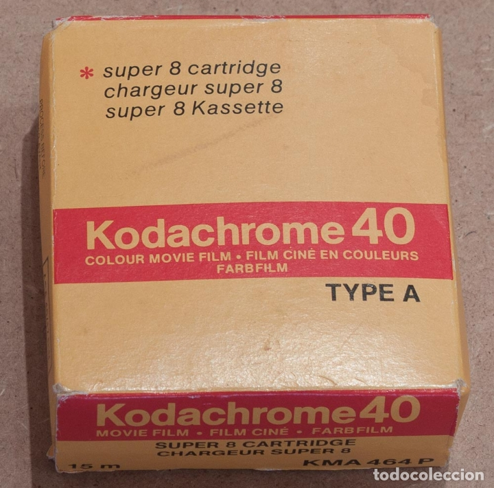 CARTUCHO PELICULA DE SUPER 8 KODACHROME 40 TYPE A. 04/1984. (Cine - Películas - Super 8 mm)