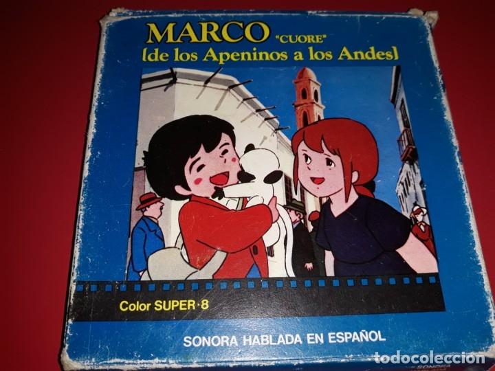 MARCO DE LOS APENINOS A LOS ANDES COLOR SONORA HABLADA EN ESPAÑOL (Cine - Películas - Super 8 mm)