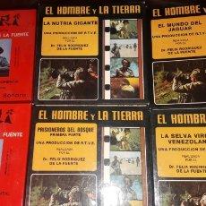Cine: LOTE PELICULAS DOCUMENTALES SUPER 8 EL HOMBRE Y LA TIERRA Y SAFARI FELIX RODRIGUEZ DE LA FUENTE. Lote 183006871