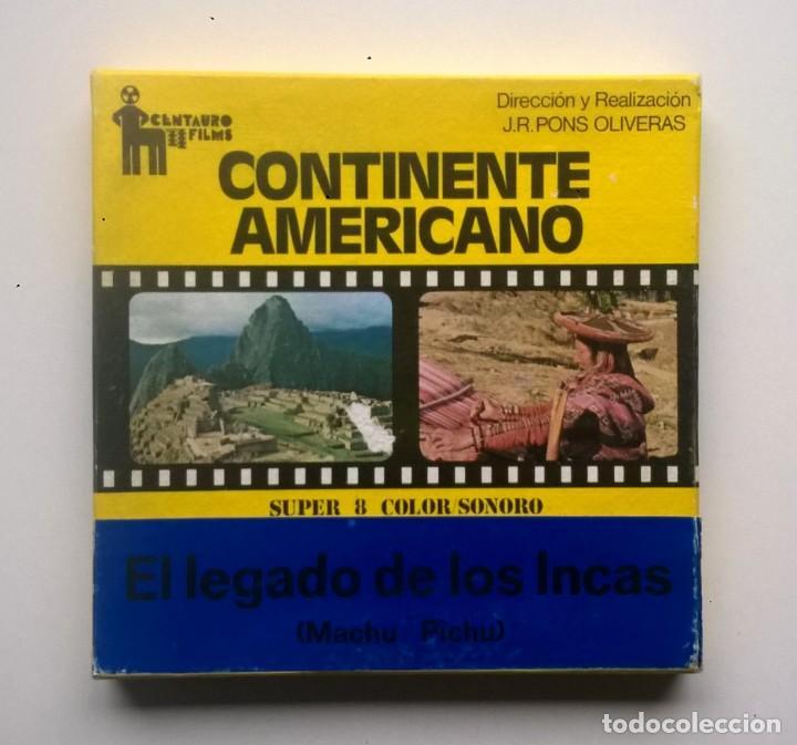 PELÍCULA SUPER 8MM - VINTAGE - EL LEGADO DE LOS INCAS (MACHU PICHU) - J.R.PONS OLIVERAS - AÑO 1975 (Cine - Películas - Super 8 mm)