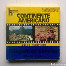 Cine: PELÍCULA SUPER 8MM - VINTAGE - EL LEGADO DE LOS INCAS (MACHU PICHU) - J.R.PONS OLIVERAS - AÑO 1975. Lote 183527968