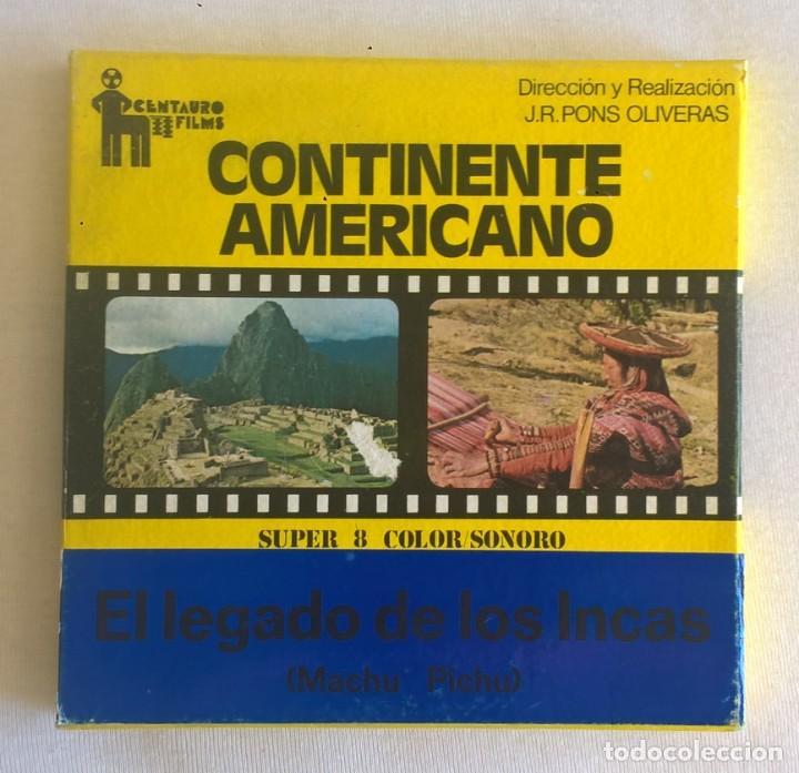 Cine: PELÍCULA SUPER 8MM - VINTAGE - EL LEGADO DE LOS INCAS (MACHU PICHU) - J.R.PONS OLIVERAS - AÑO 1975 - Foto 2 - 183527968