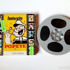 Cine: SUPER 8 : POPEYE IN TIGER BURGERS (APROX. 60 METROS / 200 FT) ATLAS FILMS INC. PELÍCULA SUPER-8. Lote 189675185