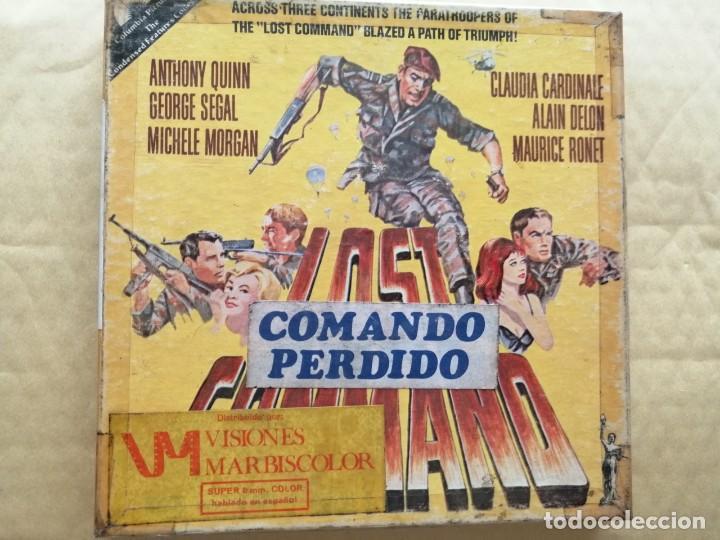 COMANDO PERDIDO. RESUMEN EN BOBINA DE 120 MTS. COLOR SONORA (ESPAÑOL LATINOAMERICANO).CAJA ORIGINAL (Cine - Películas - Super 8 mm)