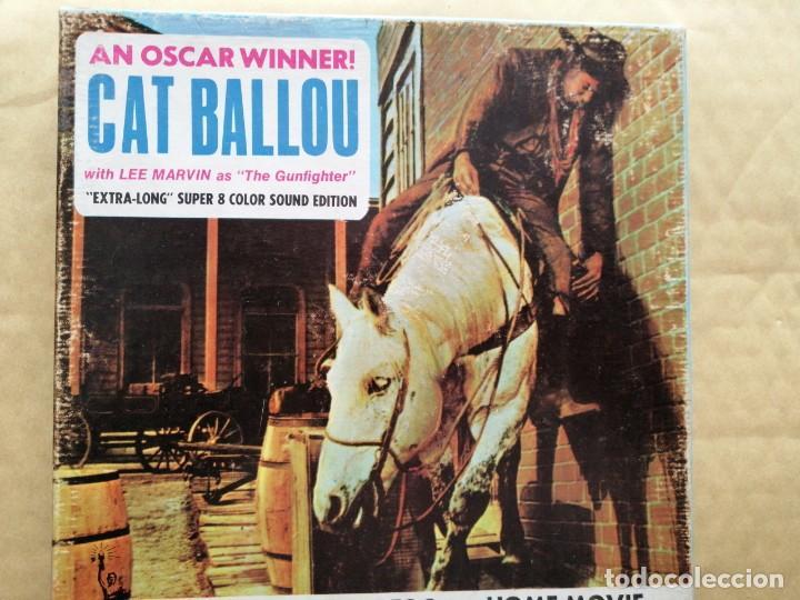 CAT BALLOU. RESUMEN EN BOBINA DE 120 MTS. COLOR SONORA EN INGLÉS. CAJA ORIGINAL (Cine - Películas - Super 8 mm)