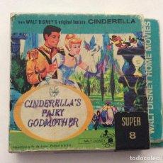 Cine: PELICULA SUPER 8. 8 MM. CENICIENTA. CINDERELLA' S FAIRY GODMOTHER. WALT DISNEY. B/N. B&W. MUDA. . Lote 191068745