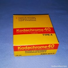 Cine: PELICULA VIRGEN KODACHROME 40 TYPE COLOUR MOVIE FILM PARA CAMARA SUPER 8 KODAK A ESTRENAR. Lote 191085232