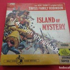 Cine: ISLAND OF MYSTERY. FAMILIA ROBINSON. PELÍCULA SUPER 8. EN ESPAÑOL. Lote 191490551