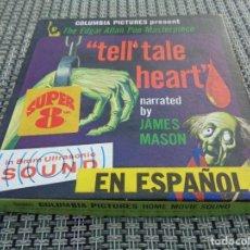 Cine: THE TELL -TALE HEART - (EL CORAZÓN REVELADOR) SUPER 8 - EDGAR ALLAN POE - TERROR - LITERATURA GOTICA. Lote 194228663