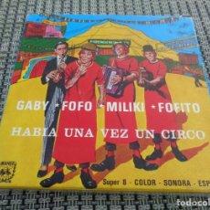Cine: ANTIGUA PELICULA COLOR SONORA GABY FOFO MILIKI FOFITO - ACTORES DE TEATRO - HABIA UNA VEZ UN CIRCO. Lote 194233416