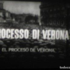 Cine: SUPER 8 ++ EL PROCESO DE VERONA. PROCESSO DI VERONA++ LARGOMETRAJE. AUDIOITALIANO SUBS. CASTELLLANO. Lote 194746260