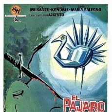 Cine: EL PAJARO DE LAS PLUMAS DE CRISTAL - DARIO ARGENTO - LARGOMETRAJE B / N , POLIESTER Y SONIDO OPTICO. Lote 202355763