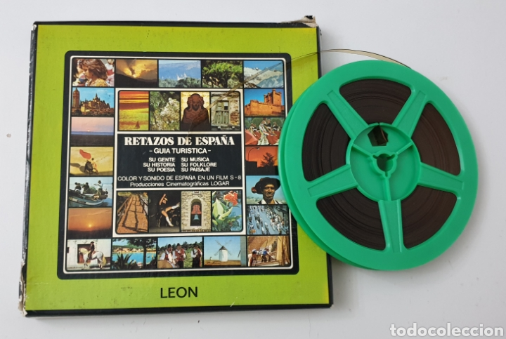SUPER 8 RETAZOS DE ESPAÑA N°11 LEON GUIA TURISTICA - PRODUCCIONES CINEMATOGRAFICAS LOGAR, 1980S (Cine - Películas - Super 8 mm)