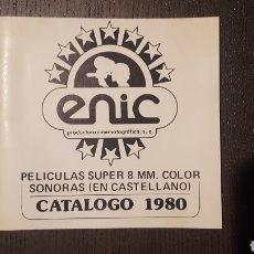 Cine: CATÁLOGO ENIC- PELICULAS SUPER 8 SONORAS 1980 BATALLA DE LOS PLANETAS CALIMERO HIJAS DE DRACULA. Lote 211511681