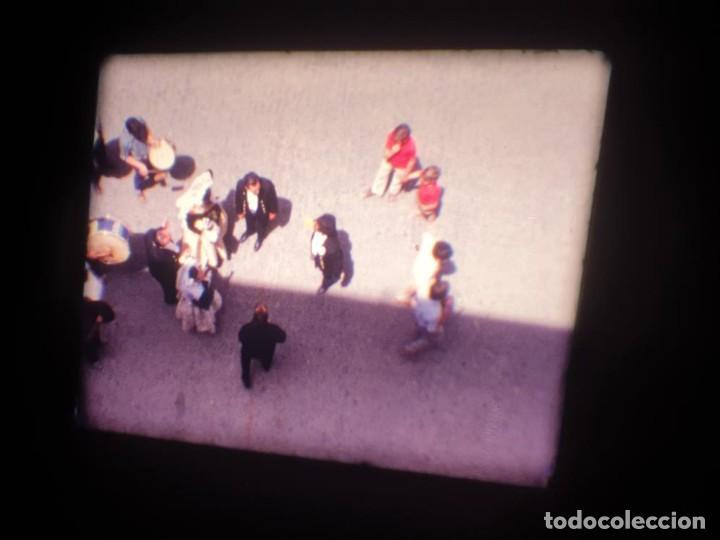 Cine: ANTIGUA BOBINA DE PELÍCULA-FILMACIONES AMATEUR-FOGUERES-SANT JOAN (1971) SUPER 8 MM, RETRO FILM - Foto 21 - 213359967