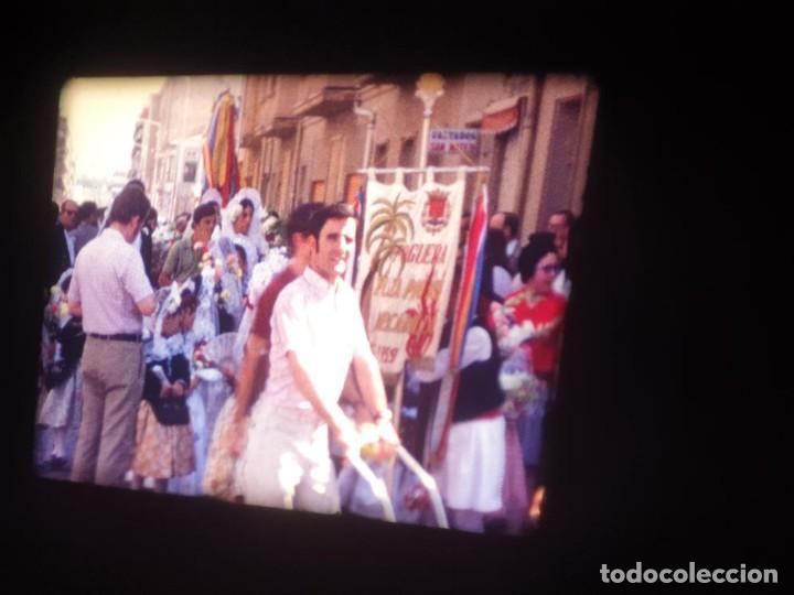 Cine: ANTIGUA BOBINA DE PELÍCULA-FILMACIONES AMATEUR-FOGUERES-SANT JOAN (1971) SUPER 8 MM, RETRO FILM - Foto 35 - 213359967