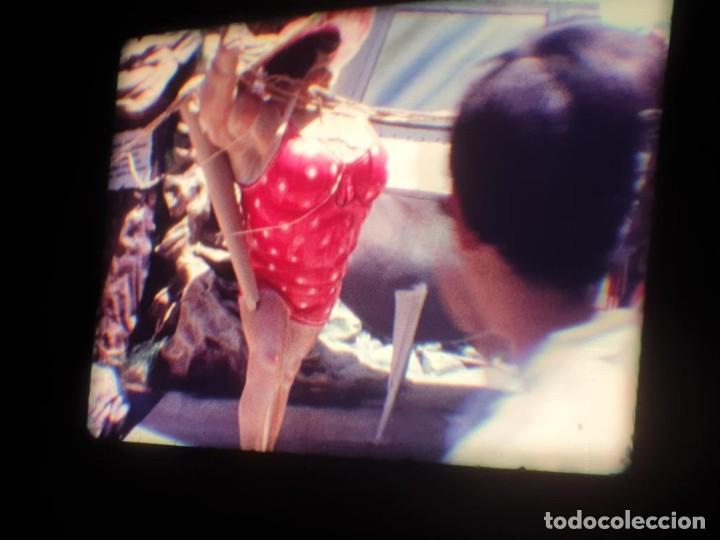 Cine: ANTIGUA BOBINA DE PELÍCULA-FILMACIONES AMATEUR-FOGUERES-SANT JOAN (1971) SUPER 8 MM, RETRO FILM - Foto 59 - 213359967