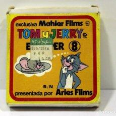 Cine: MI VIDA CON TOM - TOM Y JERRY - ANTIGUA PELICULA DE SUPER 8MM. CINTA PEQUEÑA.. Lote 216364248