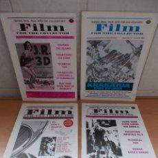Cine: ENVIO: 4€ LOTE DE 4 REVISTAS ORIGINALES DERANN FILM SOBRE PELICULAS Y ACCESORIOS DE CINE SUPER8. Lote 222270361