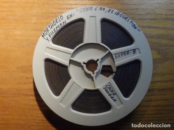 PELÍCULA - SUPER 8 - MORTADELO Y FILEMÓN EN: GENIO Ó NO, ES LA CUESTIÓN - COLOR - SONORA (Cine - Películas - Super 8 mm)