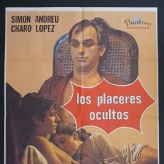 Cine: LOS PLACERES OCULTOS - ELOY DE LA IGLESIA, SIMON ANDREU - LARGOMETRAJE SUPER 8 MM 3X180 OPTICO - VER. Lote 222915337