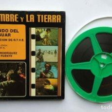 Cine: SÚPER 8: RODRÍGUEZ DE LA FUENTE (EL HOMBRE Y LA TIERRA:25; EL MUNDO DEL JAGUAR) RTVE. AÑOS 70'S. Lote 230108670