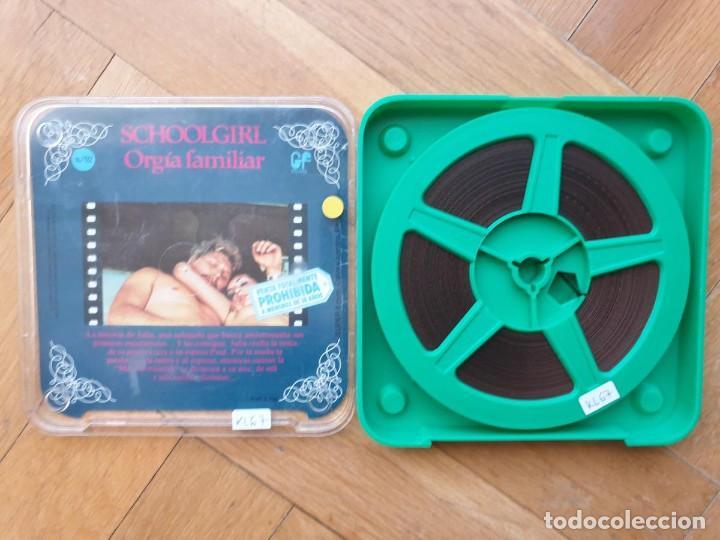 SCHOOLGIRL- ORGÍA FAMILIAR -1 X 60 MTS -SUPER 8 MM, RETRO VINTAGE FILM (Cine - Películas - Super 8 mm)