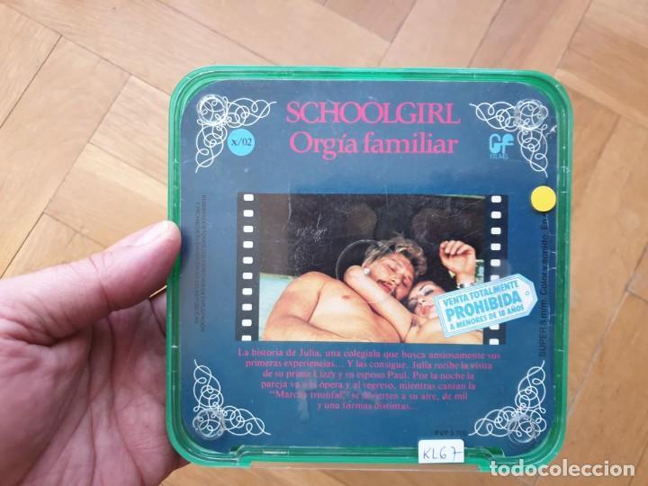 Cine: SCHOOLGIRL- ORGÍA FAMILIAR -1 X 60 MTS -SUPER 8 MM, RETRO VINTAGE FILM - Foto 164 - 234906970