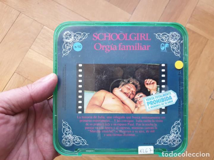 Cine: SCHOOLGIRL- ORGÍA FAMILIAR -1 X 60 MTS -SUPER 8 MM, RETRO VINTAGE FILM - Foto 165 - 234906970