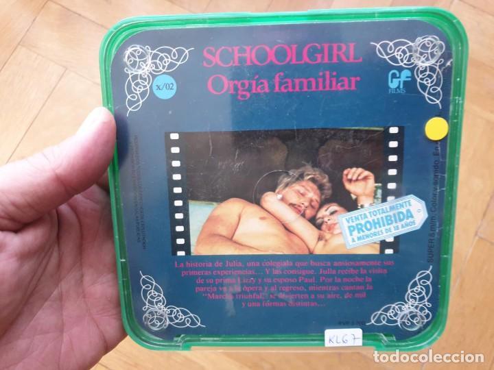 Cine: SCHOOLGIRL- ORGÍA FAMILIAR -1 X 60 MTS -SUPER 8 MM, RETRO VINTAGE FILM - Foto 166 - 234906970