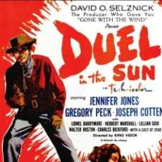 Cine: DUELO AL SOL ( JENNIFER JONES Y GREGORY PECK ) 1946. Lote 235783510