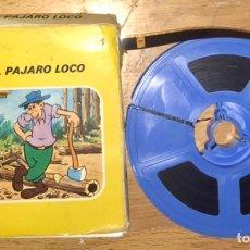 Cine: FESTIVAL PAJARO LOCO PELICULA CINE CINTA SUPER 8 MM COLOR - 8MM REEL TO REEL LOQUILLO Y EL LEÑADOR. Lote 253862395