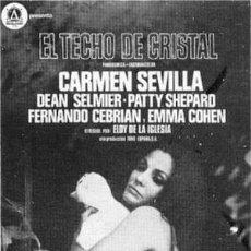 Cine: EL TECHO DE CRISTAL - CARMEN SEVILLA, PATTY SHEPARD, ELOY DE LA IGLESIA - LARGOMETRAJ SUPER 8 OPTICO. Lote 253984480