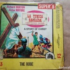 Cine: LA TÚNICA SAGRADA EN BOBINA DE 120 M. SUPER 8, COLOR SONORA. Lote 254887545