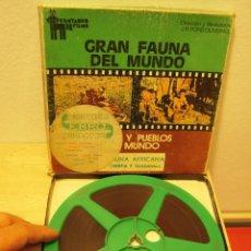 """Cine: FAUNA DEL MUNDO """"KENIA Y TANZANIA"""" PELICULA DE CINE SUPER8. Lote 263281760"""