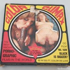 Cine: SUPER 8 PORNO ADULTOS: BLACK IS BIGGER? COLOR CLIMAX FILMS 1975 DINAMARCA. Lote 263609945