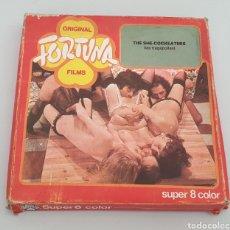 Cine: SUPER 8MM PORNO: THE SEX-COCKEATERS (LAS TRAGAPOLLAS) ORIGINAL FORTUNE FILMS. Lote 263612015