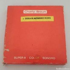 Cine: SUPER 8MM PORNO: CHARLY BRAUN / ESCUELA DE MATRIMONIOS VICIOSOS. Lote 263612580