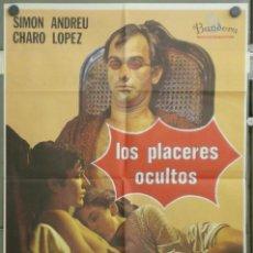 Cine: LOS PLACERES OCULTOS - ELOY DE LA IGLESIA, SIMON ANDREU - LARGOMETRAJE SUPER 8 MM OPTICO - VER. Lote 266424473